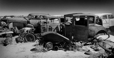 1931 ford wreck panoramic