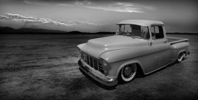 1955 chevrolet truck desert panoramic