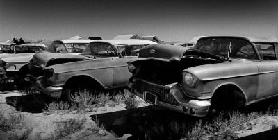 1957 cadillac wreck panoramic