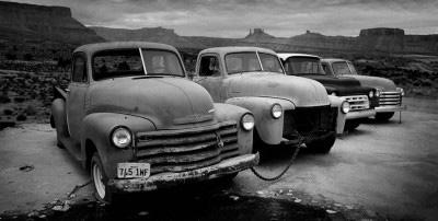 chevrolet pickup trucks desert panoramic